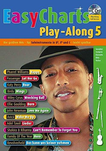 Preisvergleich Produktbild Music Factory: Easy Charts Play-Along: Die größten Hits spielerisch leicht gesetzt. Band 5. C/Eb/Bb-Instrument. Spielbuch mit CD.