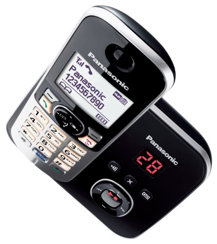 Panasonic KX-TG6821GB DECT-Schnurlostelefon (4,6 cm (1,8 Zoll) Grafik-Display) mit Anrufbeantworter schwarz - 6