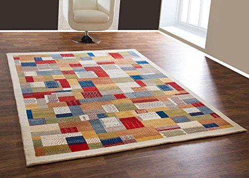 Gabbeh Teppich Sabri aus 100% Schurwolle in Beige, Handgeknüpft, Größe: 170x240 cm