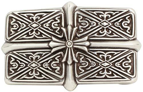 Brazil Lederwaren Gürtelschnalle Crosses 4,0 cm | Buckle Wechselschließe Gürtelschließe 40mm Massiv | Für Wechselgürtel bis zu 4cm Breite
