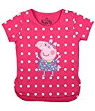 #5: Peppa Pig with Polka Dots Pink T-Shirt for Girls