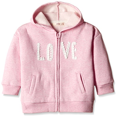 Fox Baby Girls' Jacket (662612390706_Pink Melange_6)