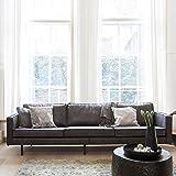 Sofa aus recycling Leder Schwarz Pharao24