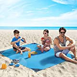 4UMOR Beach Blanket, Portable Lightweight Waterproof Sandproof Pocket Picnic Blanket - 140cm x
