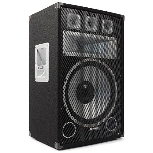 Skytec TX15 - Altavoces (Universal, De 3 vías, Piso, 250 W, 1000 W, 25-20000 Hz)