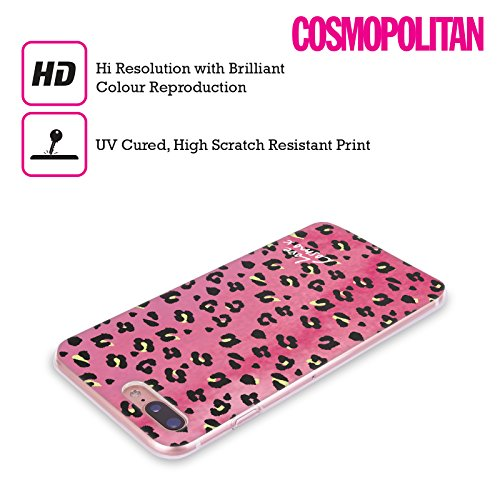 Official Cosmopolitan Blue Triangles Totally 80S Soft Gel Case for Apple iPhone X Washed Leopard