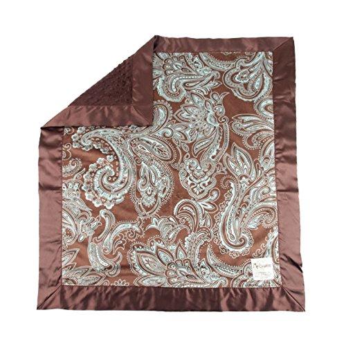 My Blankee Aby Minky W/Minky Dot Schokolade Braun Baby Decke, 76,2x 88,9cm