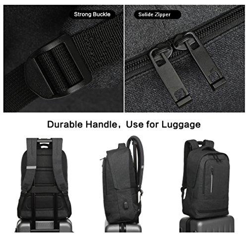 02378dda6a YSINOBEAR Zaino per Computer Portatile Backpack Laptop Impermeabile  Zainetto Uomo per Ufficio e Scuola (Nero 1)
