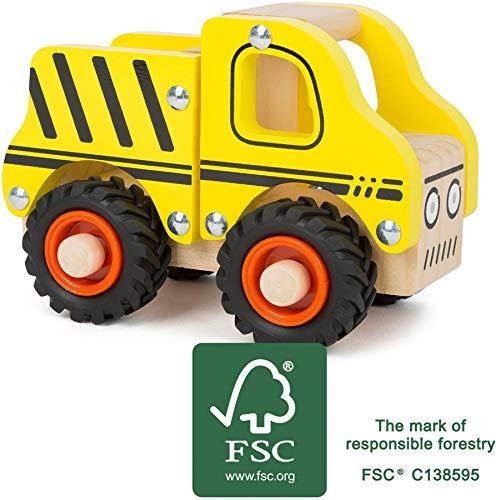 small foot 11096 Einsatzfahrzeug Baufahrzeug aus Holz, mit Ladefläche und gummierten Rädern, ab 18 Monaten - 7