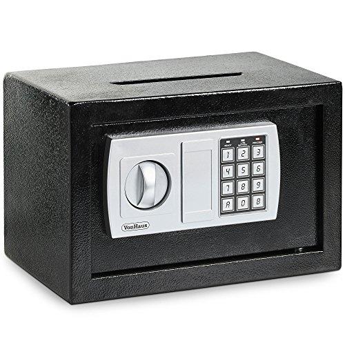VonHaus Compakter Elektronischer Digital Home Sicherheit fester Stahlsafe mit zwei Jahren kostenloser Gewährleistung & Briefschlitz 4.3kga