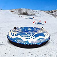 ckground Snow Tube Inflatable Snow Sled 47in Heavy Duty Inflatable Snow Tube Skiing Supplies For Kids And Adults