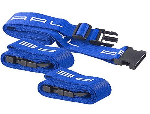 PEARL Spanngurte: Koffergurt mit Clip-Verschluss, größenverstellbar bis 200 cm, 3er-Set (Koffer-Spanngurte)