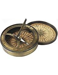 Cadran solaire/boussole 19ème siècle - emballage cadeau!