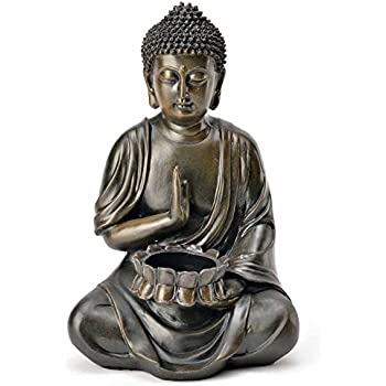 photophore bouddha d corative figurine sculpture statue feng shui 24 cm jardin neuf. Black Bedroom Furniture Sets. Home Design Ideas
