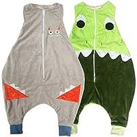 kilofly–Borsa sacco nanna in flanella Walker Wearable coperta per bambini, Set di 2 - Flanella Bambino Coperte