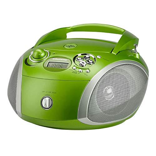 Grundig GRB 2000USB Radiorecorder Boombox CD-Player MP3 WMA UKW Empfangsteil Ultra Bass System USB 2.0, Farbe:Grün
