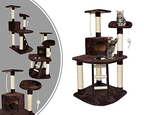 Leogreen - Árbol para Gatos, Poste Rascador para Gatos, 120 cm, 4...