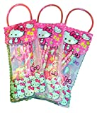 #6: Online Khajana Hello Kitty Stationery Kit, Cartoon Character Pouch with Pencil, Sharpener, Eraser and Scale