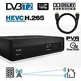 Crypto Redi 270PH DVB-T2 HEVC H.265 Sintonizador Receptor y Grabador TDT Full HD 1080P con Dolby Reproductor multimedia PVR y cable HDMI 1M
