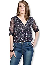 Camisa Mujer Lavand mango larga con capucha Fin de Collection