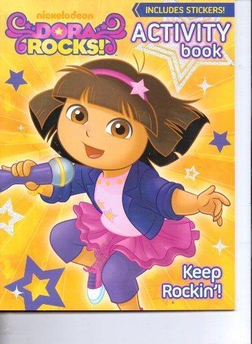nickelodeons-dora-rocks-activity-book-includes-stickers-keep-rockin-by-nick-jr-nickelodeon-viacom