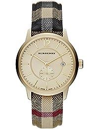 Burberry para hombre & mujer 40 mm cristal mineral correa de tela multicolour reloj BU10001