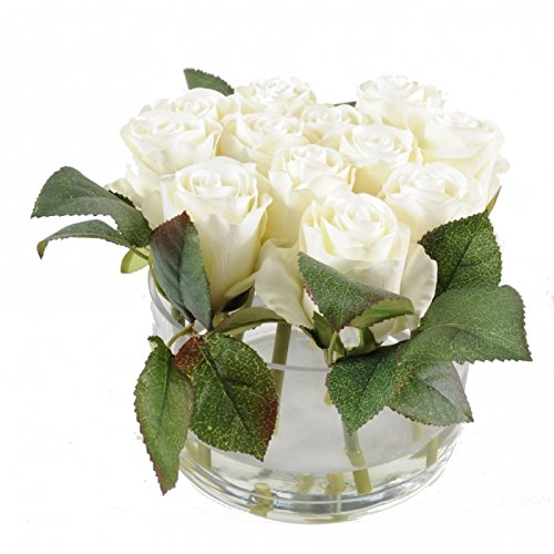 bouquet artificiel rose - h : 17