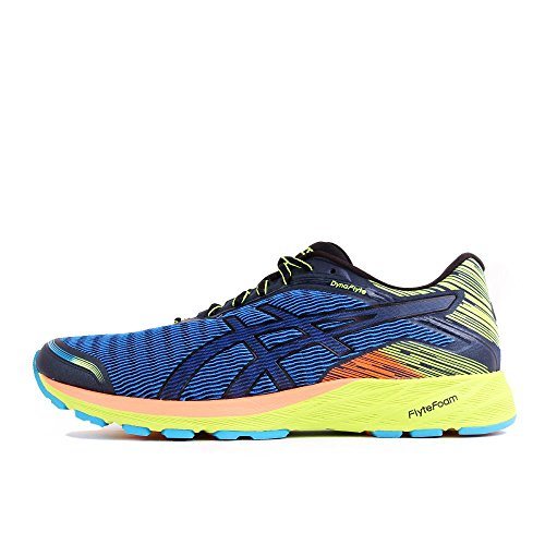 Asics DynaFlyte Poseidon Black Safety Yellow blue