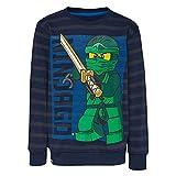 LEGO Wear Jungen Lego Ninjago M-72647-Sweatshirt, Blau (Dark Navy 590), 128