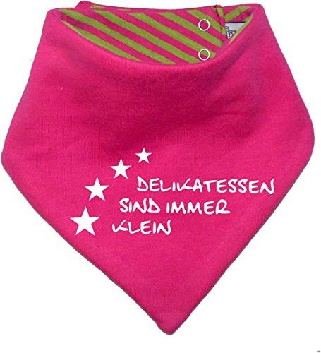 Kinder Wendehalstuch uni/gestreift (Farbe pink-lime) (Gr. 1 (0-74)) Delikatessen sind immer klein