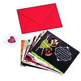 Gutschein Set mit 12 Gutscheinen für Paare - Ideal als Geschenk zum Geburtstag, Valentinstag oder Weihnachten - mit Umschlag und Herz-Aufkleber