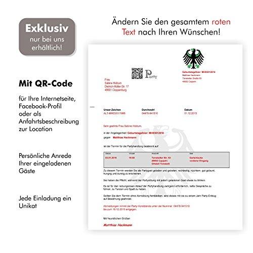 10 Geburtstagseinladungen Zustellung Einladungen für Erwachsene Geburtstag Brief und Umschlag Witzig Lustig Originell - 3