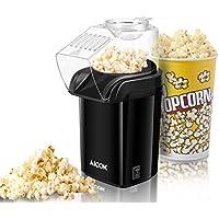 Aicok Machine à Pop Corn, Popcorn Popper à Air Chaud Sans huile, Pop Corn Machine Antiadhésif Inclus, Tasse à Mesurer avec Large Ouvertureet Couvercle Amovible, Approuvé par la FDA et sans BPA, 1200W