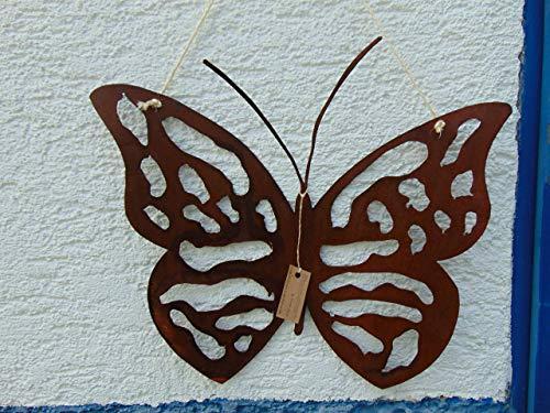 Edelrost Hänger Schmetterling Plasma groß Gartendeko 32 x 29 cm Plasma 32
