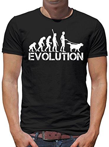 TLM Evolution Hund T-Shirt Herren L Schwarz