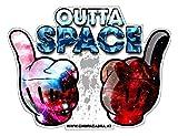 Outta Space Aufkleber Sticker Fun Cool Musik Auto JDM Stickerbomb Tuning OEM Moped Motorrad LKW Bike Hardcore Oldschool Folie
