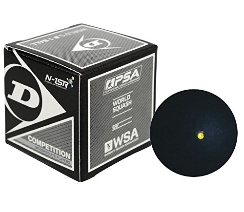 Dunlop Competition - Single Yellow Dot Squash Ball -