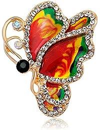 fb0185931525 Gysad Broche mujer Forma de mariposa Broche animal Exquisito y hermoso  Broches de bisuteria baratos Broches