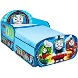 HelloHome Thomas & Friends Toddler Bed with underbed Storage, Wood, Blue, 142 x 77 x 63 cm