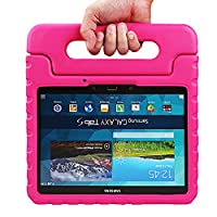NEWSTYLE Samsung Galaxy Tab S 10.5 Kiddie Case - Light Weight Shock Proof Convertible Handle Stand Kids Friendly for Samsung Tab S 10.5-Inch Tablet SM-T800 SM-T805 (Rose)