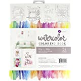 "Prima Marketing Watercolor Coloring Book-(24) 8""X10"" Frameable Pages"