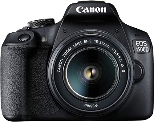 Canon EOS 1500D 24.1 Digital SLR Camera (Black) with EF...