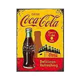 Nostalgic-Art 14321 Coca-Cola - In Bottles Yellow, Magnet 8x6 cm