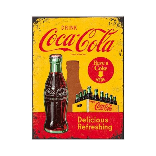 Nostalgic-Art 14321 Coca-Cola In Bottles, gelb