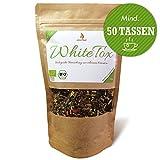 JoviTea® WhiteTox Bio Detox Tee - empfohlen bei Detox Kur 14 Tage – 50 Portionen - Weißer Tee - 100% Natürlich und zuckerfrei - geeignet bei Diät - auch bei Sportlern beliebt. Kombinierbar mit Detox / Entgiftungskur / Entschlacken. Leckere Kräuter- und Fruchtmischung (100g WhiteTox)