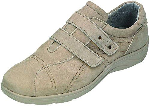 şahin omfort Femme Sandales-pantol. confortables D. Velcro Chaussures Beige - Beige
