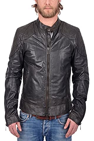 Belstaff Men's Outlaw Blouson Man Coat, Schwarz (Black 90000), Medium (Manufacturer Size: 50)