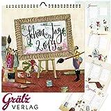 Kalender * SCHÖNE TAGE 2019 * von Silke Leffler aus dem Grätz-Verlag // Wandkalender Planer Wandplaner Familienkalender Geschenk