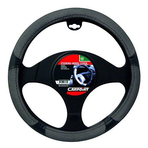 Carpoint 2510086 Couvre Volant Silverstone Gris/Noir