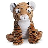 Destination Nation - Tigre de Peluche, 24 cm, Color Blanco y marrón (Aurora World 50431)
